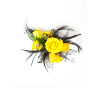 Rose Wristlet Corsage w/ Feathers in Little Rock AR, Tipton & Hurst, Inc.