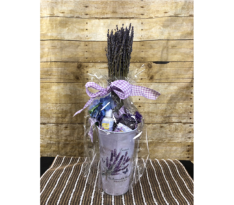 Lavender & Butterflies Gift Basket in Greenville SC, Expressions Unlimited