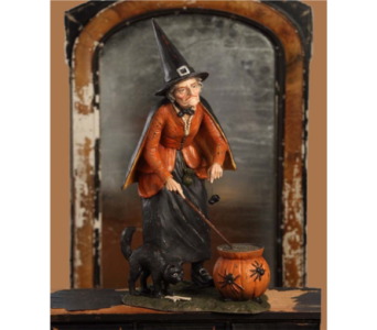 Bethany Lowe Old Hagatha Witch Hand painted Figure in Bellevue WA, CITY FLOWERS, INC.
