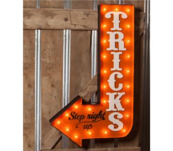 Bethany Lowe Tricks LIT Marquee Sign in Bellevue WA, CITY FLOWERS, INC.