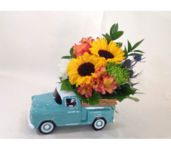 Teal Chevy Pick up in Nashville TN, Emma's Flowers & Gifts, Inc.