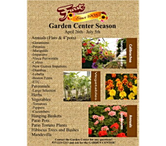 Annuals and Perennials in Dayton OH, Furst The Florist & Greenhouses
