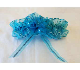 Ocean Blue Hand Made Garter in Hales Corners WI, Barb's Green House Florist