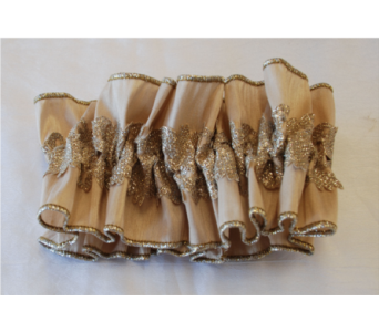 Large Beige Hand Made Garter in Hales Corners WI, Barb's Green House Florist