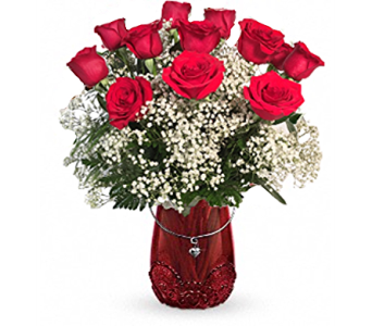 Rosy Love Bouquet in Madison WI, George's Flowers, Inc.