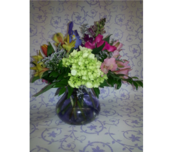 Thank You Posey Vase in New Paltz NY, The Colonial Flower Shop