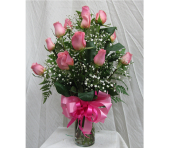 Dozen Roses - Light Pink in San Diego CA, The Floral Gallery