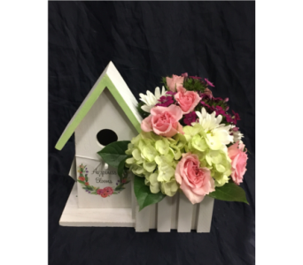 Birdhouse Bouquet in San Diego CA, The Floral Gallery