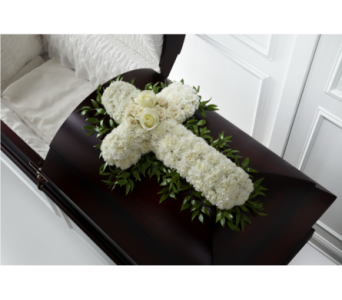 The FTD Peaceful Memories Casket Spray in Southfield MI, Thrifty Florist