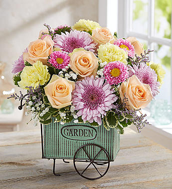Blooming Garden Cart in Round Rock TX, Heart & Home Flowers
