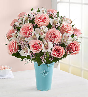 Blushing Bella Blooms in Round Rock TX, Heart & Home Flowers