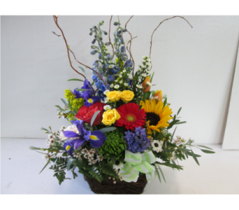 Medium Springtime Garden Basket in Worcester MA, Holmes Shusas Florists, Inc