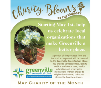 Charity Blooms in Greenville SC, The Embassy Flowers & Nature's Gifts