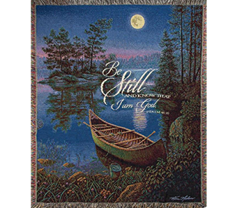 Be Still And Know Moonlight Bay Throw in Kalispell MT, Flowers By Hansen, Inc.