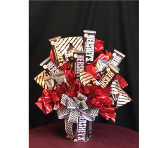 Kisses & Hershey Candy Bouquet in New Iberia LA, Breaux's Flowers & Video Productions, Inc.