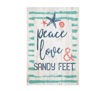Sandy Feet Sign in Virginia Beach VA, Fairfield Flowers