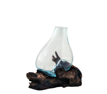 Molten Glass Vase in Virginia Beach VA, Fairfield Flowers