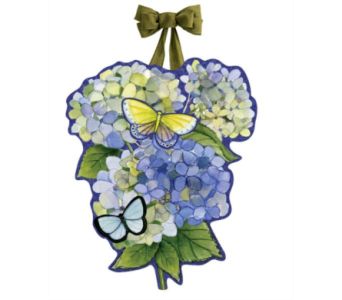 Hydrangea Beauties Door Decor in Virginia Beach VA, Fairfield Flowers