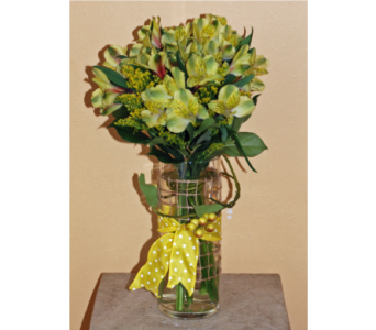 Alstroemeria Vase in Hales Corners WI, Barb's Green House Florist