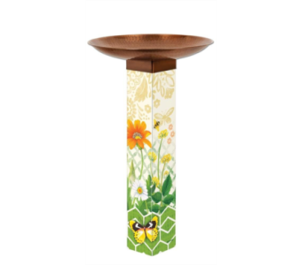 Daisy Garden Bird Bath Art Pole in Virginia Beach VA, Fairfield Flowers