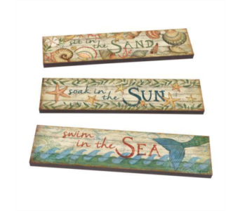 Sun Sea Sand Art Planks in Virginia Beach VA, Fairfield Flowers