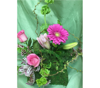 Moss Purse in Laurel MD, Rainbow Florist & Delectables, Inc.