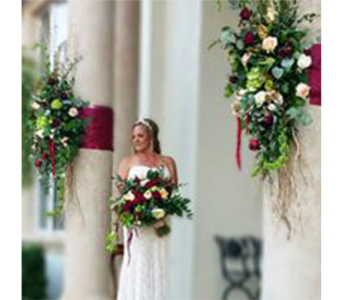 Bride with Pillars in Naples FL, Naples Flowers, Inc.