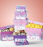 Best Mom Ever Sweets & Treats Tower in Round Rock TX, Heart & Home Flowers