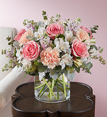 Blushing Blooms in Round Rock TX, Heart & Home Flowers