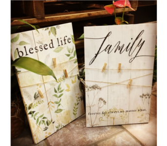 Blessed Life Twine Pallet in Pascagoula MS, Pugh's Floral Shop, Inc.