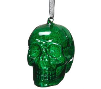 Allstate Floral Green Glass Skull Ornaments in Bellevue WA, CITY FLOWERS, INC.