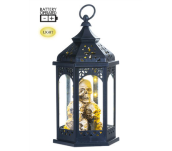 Allstate Battery Operated hanging Skull lantern in Bellevue WA, CITY FLOWERS, INC.