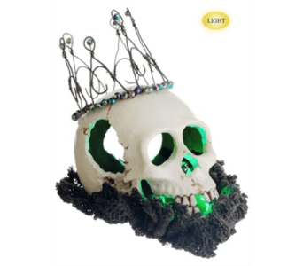 Allstate Battery Operated Lit Skull in Bellevue WA, CITY FLOWERS, INC.