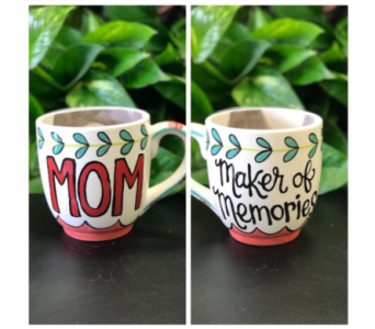 Maker of Memories mug in Lubbock TX, House of Flowers