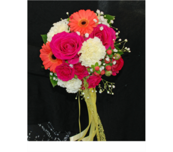 Pink Party Bouquet in Hales Corners WI, Barb's Green House Florist