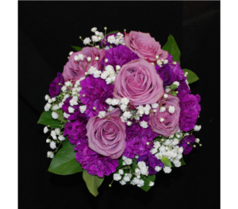 Purple Party Bouquet in Hales Corners WI, Barb's Green House Florist