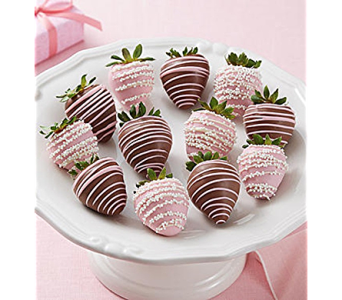 Mom�s Perfect Present Dipped Strawberries in Mount Morris MI, June's Floral Company & Fruit Bouquets