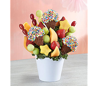 Scrumptious Surprise in Mount Morris MI, June's Floral Company & Fruit Bouquets
