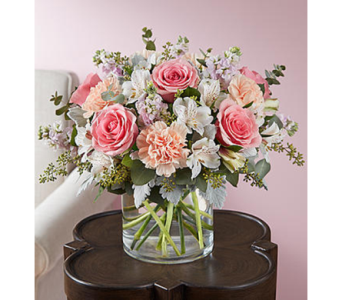 Blushing Blooms-LG in Palm Desert CA, Milan's Flowers & Gifts