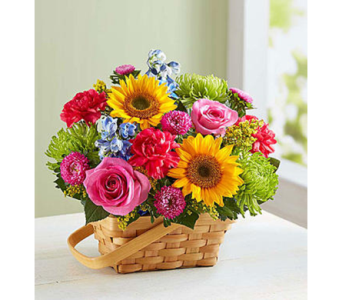 Sunny Garden Basket-M in Palm Desert CA, Milan's Flowers & Gifts