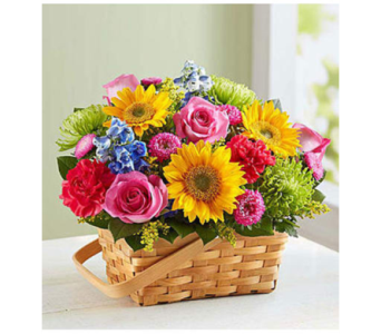 Sunny Garden Basket-LG in Palm Desert CA, Milan's Flowers & Gifts