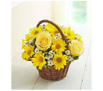 Basket of Sunshine-SM in Palm Desert CA, Milan's Flowers & Gifts