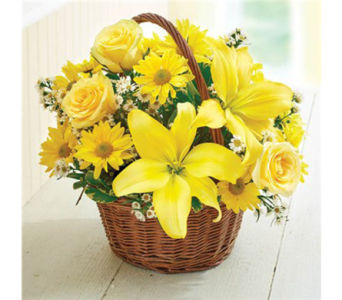 Basket of Sunshine-M in Palm Desert CA, Milan's Flowers & Gifts