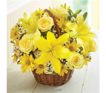 Basket of Sunshine-LG in Palm Desert CA, Milan's Flowers & Gifts