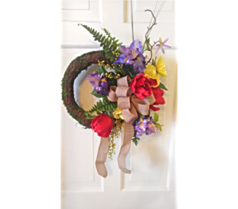 CUSTOM SILK WREATH in Westfield MA, Flowers by Webster