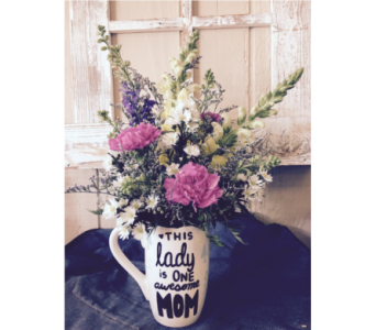 Hand painted mug for mom in Lake Zurich IL, Lake Zurich Florist