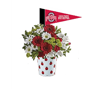 Christine's OSU Ladybug Bouquet in Columbus OH, OSUFLOWERS .COM