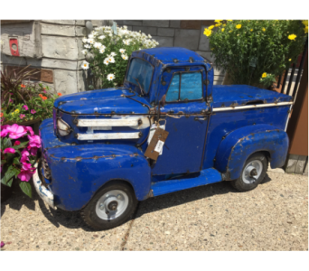 Pick Up Truck - Blue in Muskegon MI, Wasserman's Flower Shop