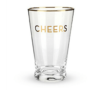 Gold Cheers Pint Glass Set in Pascagoula MS, Pugh's Floral Shop, Inc.