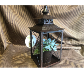 Brown Metal Lantern in Kimberly WI, Robinson Florist & Greenhouses